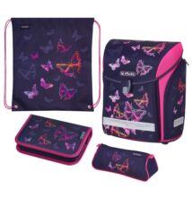 Herlitz Midi Plus Rainbow Butterfly pillangós iskolatáska - szett