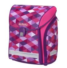 Herlitz Midi Pink Cubes iskolatáska