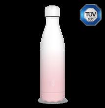 Ars Una fehér-rózsaszín duplafalú fémkulacs 500 ml