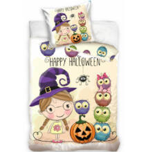 Happy Halloween gyermek ágyneműhuzat garnitúra 160x200