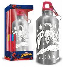 Színezhető alumínium kulacs karabinerrel Spiderman - Pókember 500 ml