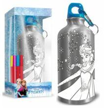 Színezhető alumínium kulacs karabinerrel Disney Frozen - Jégvarázs 500 ml