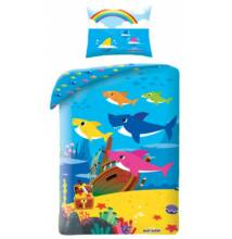Baby Shark ágyneműhuzat garnitúra 140x200