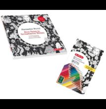 Felnőtt színező könyv 36 részes színesceruza készlettel