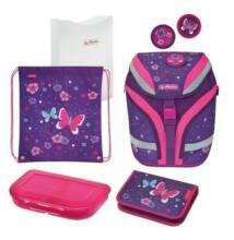 Herlitz SoftFlex Plus Butterfly iskolatáska - szett