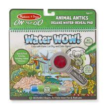 Melissa & Doug Kreatív játék, Rajzolás vízzel deluxe, állati bohócságok