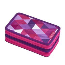 Herlitz Pink Cubes 31 részes emeletes tolltartó