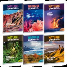 Ars Una Natural Wonders A4 füzetcsomag - négyzethálós
