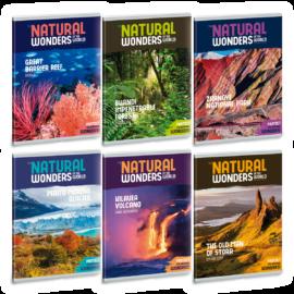 Ars Una Natural Wonders A5 füzetcsomag - négyzethálós