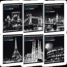 Ars Una Cities By Night A5 füzetcsomag - vonalas