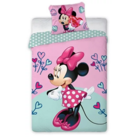 Minnie Mouse gyermek ágyneműhuzat garnitúra 140x200
