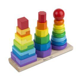 Melissa & Doug Fa készségfejlesztő játék, Montessori tornyok