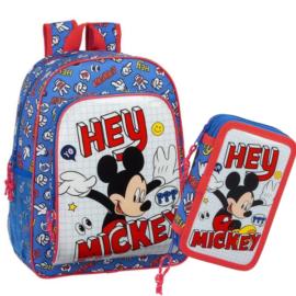 Disney Mickey iskolatáska-tolltartó szett