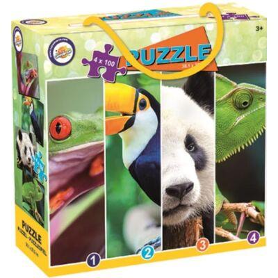 Állatos puzzle - 4x100 db-os
