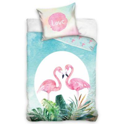 Flamingós gyermek ágyneműhuzat garnitúra 140x200