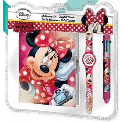 Disney Minnie napló, 6 színű toll és karóra
