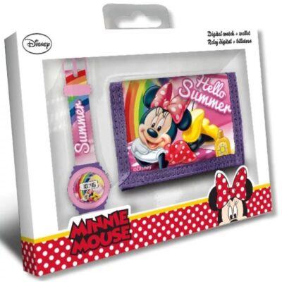 Disney Minnie Digitális LED karóra és pénztárca