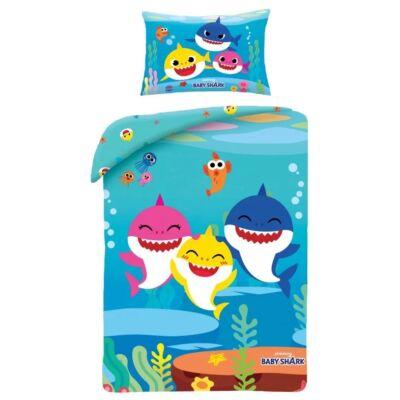 Baby Shark gyermek ágyneműhuzat garnitúra 100x135