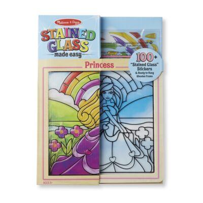 Melissa & Doug Kreatív játék, Ólomüveg képkészítő készlet, hercegnő