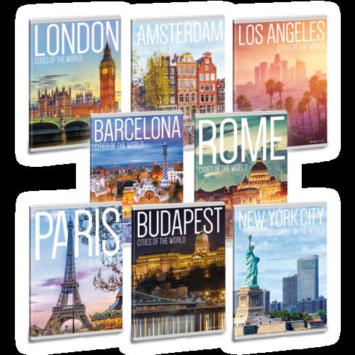Ars Una Cities of the World A5 füzetcsomag - négyzethálós