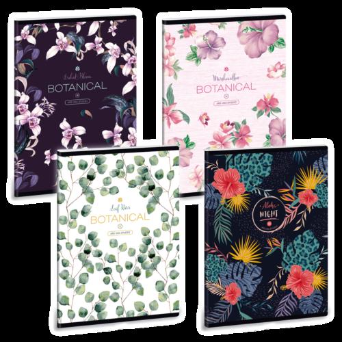 Ars Una Botanical-Mix A5 füzetcsomag - négyzethálós