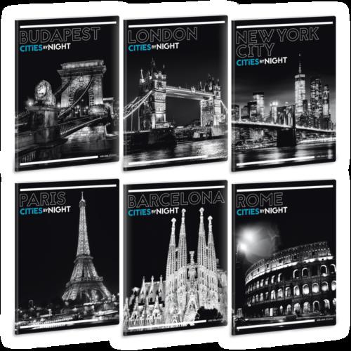 Ars Una Cities By Night A5 füzetcsomag - négyzethálós