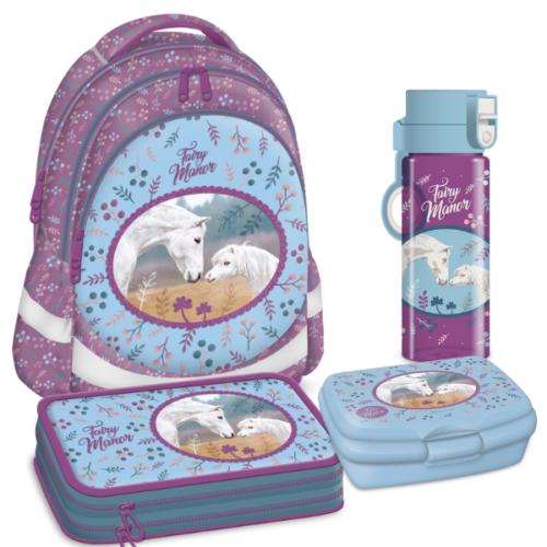 Fairy Manor lovas iskolatáska csomag -