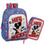 Kép 1/3 - Disney Mickey iskolatáska-tolltartó szett